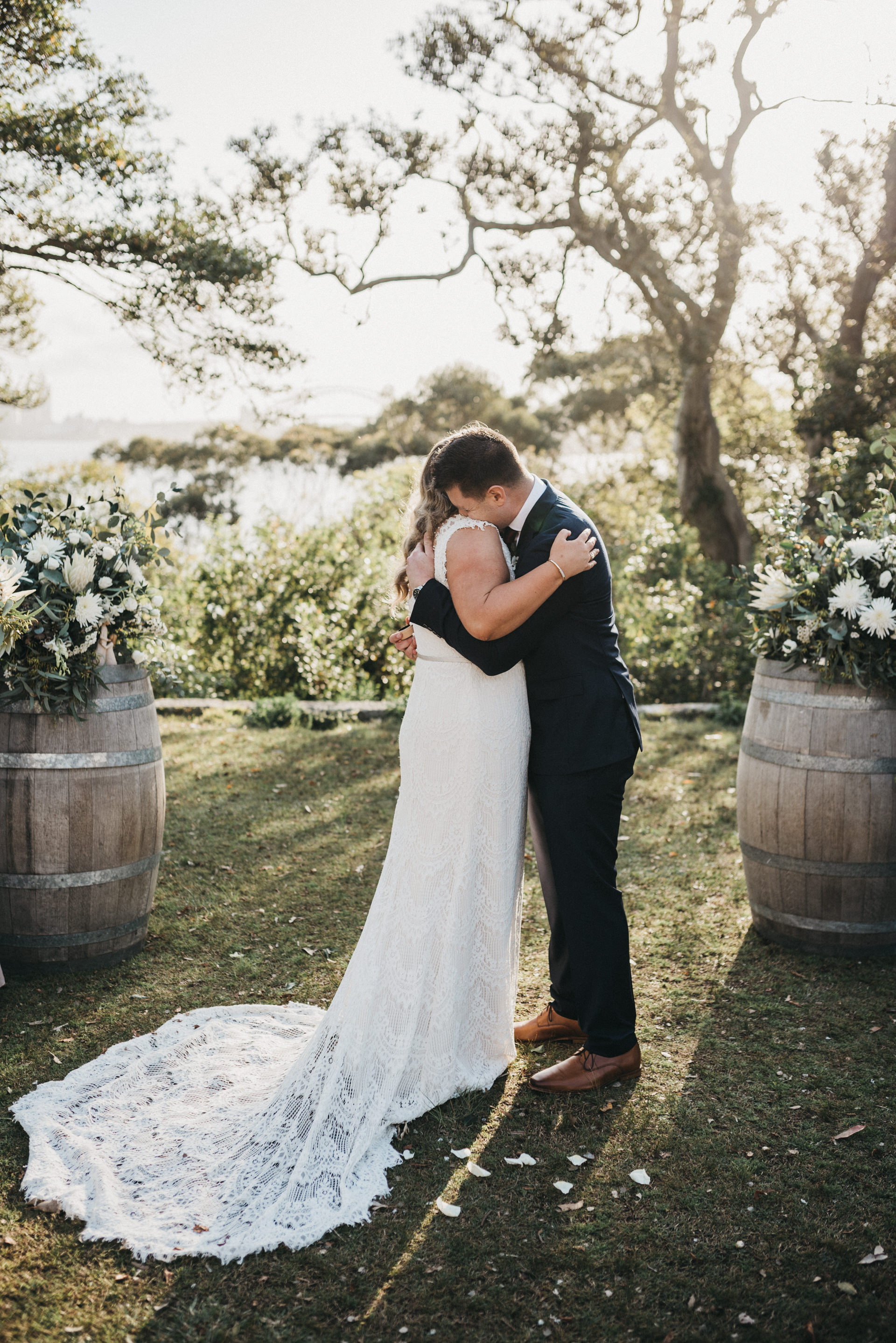 outdoors wedding ceremony