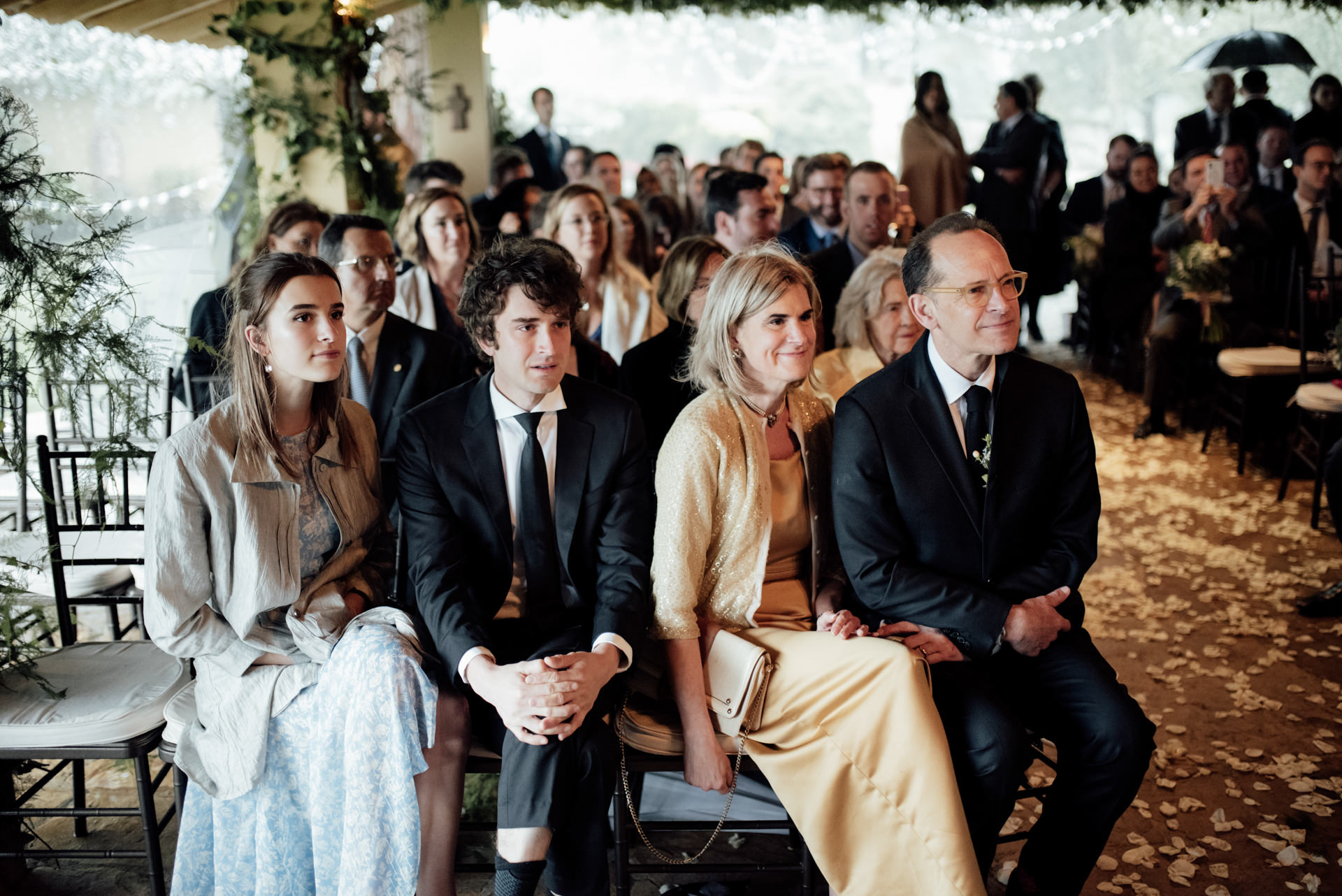 guests wedding ceremony