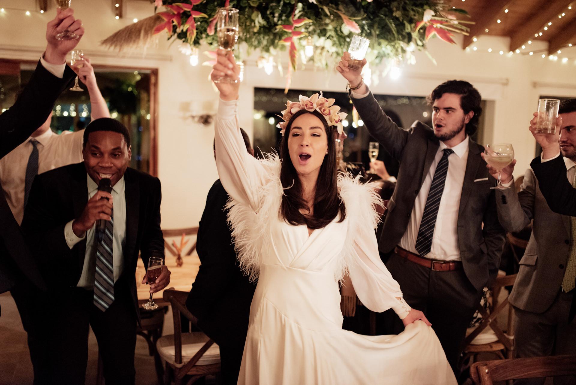 wedding party hacienda marquez